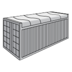 Open top 40 футовый контейнер